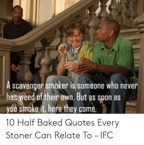 A Scavenger Smoker Is Someone Who Never Has Veed of Their ...