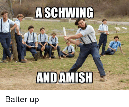 Ups, Punny, and Schwing: A SCHWING  ANDAMISH Batter up