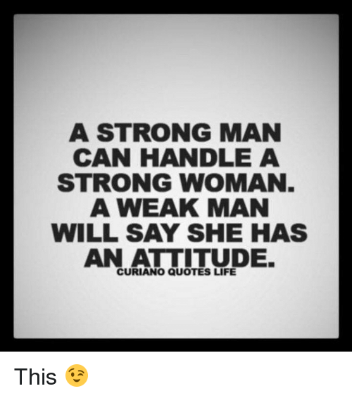 strong woman and weak man
