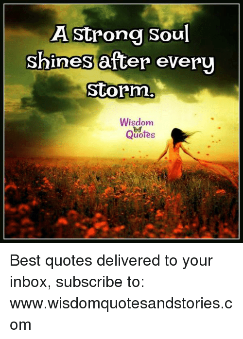 A Strong Soul Shines After Eve...