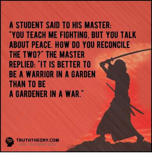 Memes, Masters, And Warriors: A STUDENT SAID TO HIS MASTER YOU TEACH ME