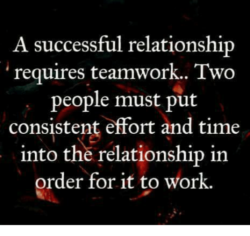 time and effort meaning in relationship
