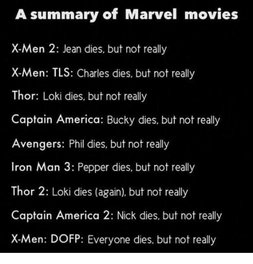 A Summary of Marvel Movies X-Men 2 Jean Dies but Not Really X-Men