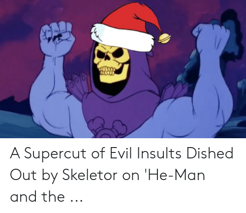 A Supercut of Evil Insults Dished Out by Skeletor on 'He-Man