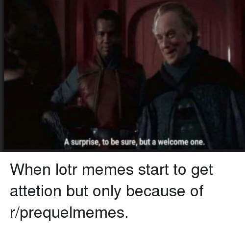 A surprise to be sure but a welcome one