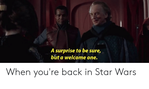 A Surprise To Be Sure But A Welcome One When You Re Back In Star Wars Star Wars Meme On Me Me While his i am the senate is infamous for its vile repugnance by the time he was made chancellor of the republic, a surprise, to be sure, but a welcome one is remembered for how. star wars meme