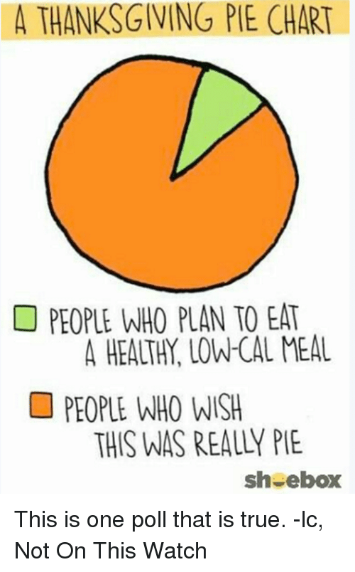 A Thanksgiving Pie Chart People Who Plan To Eat A Healthy Lowcal