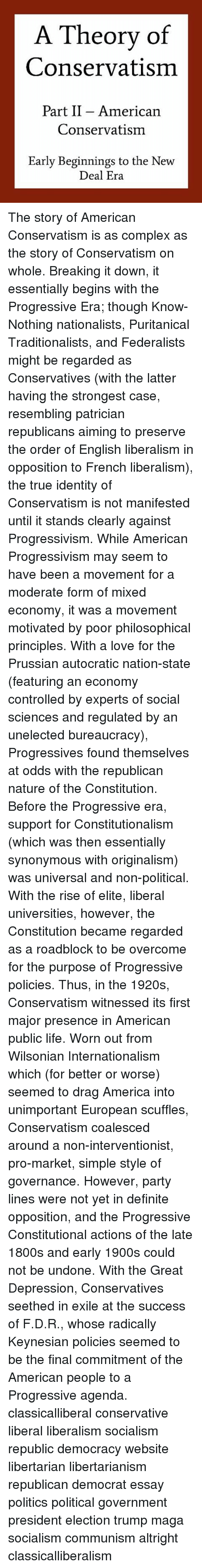 socialist progressivism essay Editorial reviews about the author lawrence w larry reed became  president of the  why nazism was socialism and why socialism is totalitarian   well thought trough collection of essays and articles, challenging various ideas  of the.