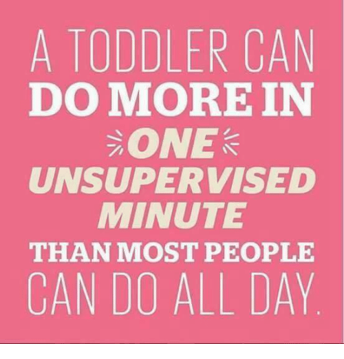 Dank, 🤖, and Can: A TODDLER CAN  DOMOREIN  ONE  UNSUPERVISED  MINUTE  THAN MOST PEOPLE  CAN DO ALL DAY.