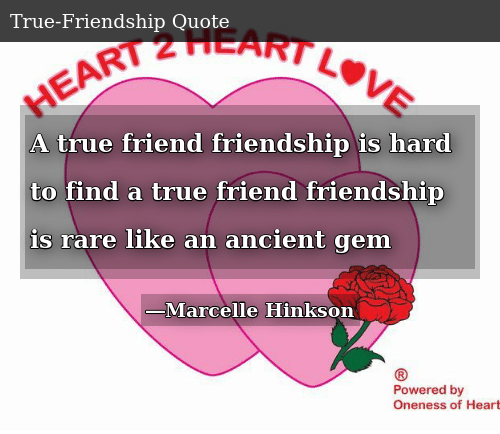 SIZZLE: A true friend friendship is hard to find a true friend friendship is rare like an ancient gem