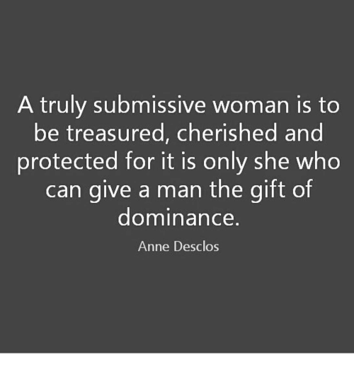 How to dominate a submissive woman