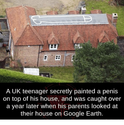 Dank, Google, And Parents: A UK Teenager Secretly Painted A Penis On Top