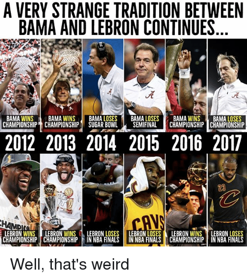 a very strange tradition between bama and lebron continues bama 22724968 ✅ 25 best memes about bama bama memes