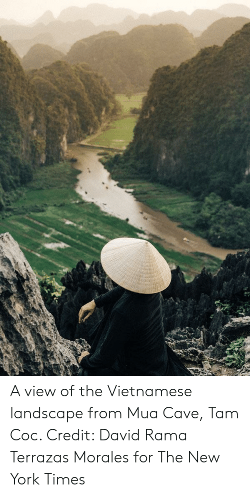 A View Of The Vietnamese Landscape From Mua Cave Tam Coc