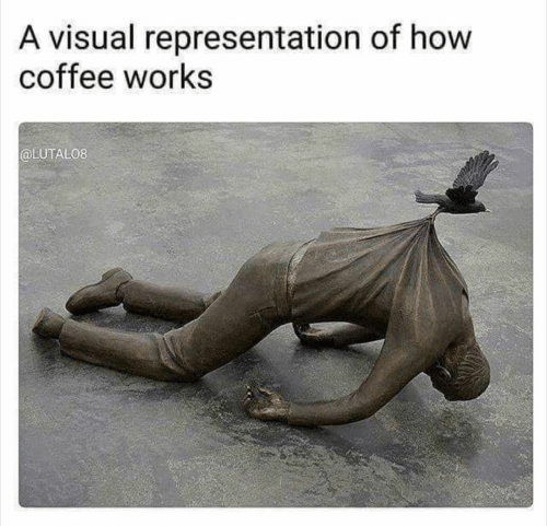 Coffee, How, and Works: A visual representation of how  coffee works  @LUTAL08