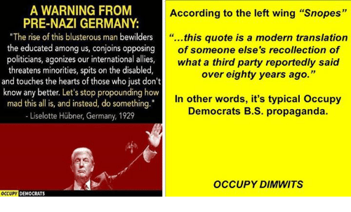 d0d12c7204938 A WARNING FROM According to the Left Wing Snopes PRE-NAZI GERMANY ...