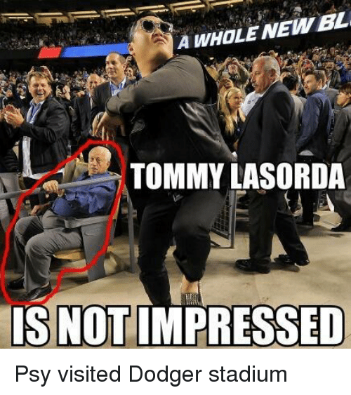 a whole newbl tommy lasorda is notimpressed psy visited dodger 11754056 a whole newbl tommy lasorda is notimpressed psy visited dodger