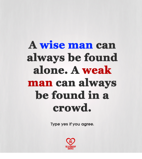 Alone In A Crowded Room Quote