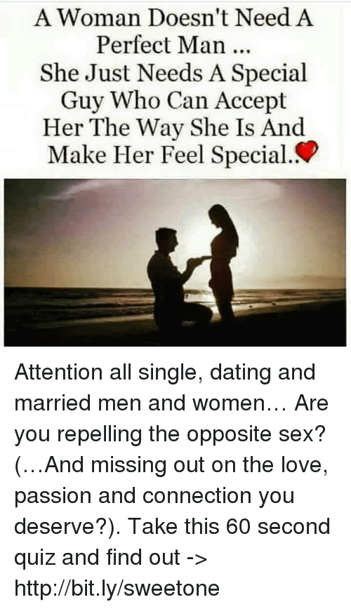 What single woman date need man