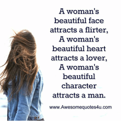 Beautiful Memes And Heart A Womans Face Attracts Flirter