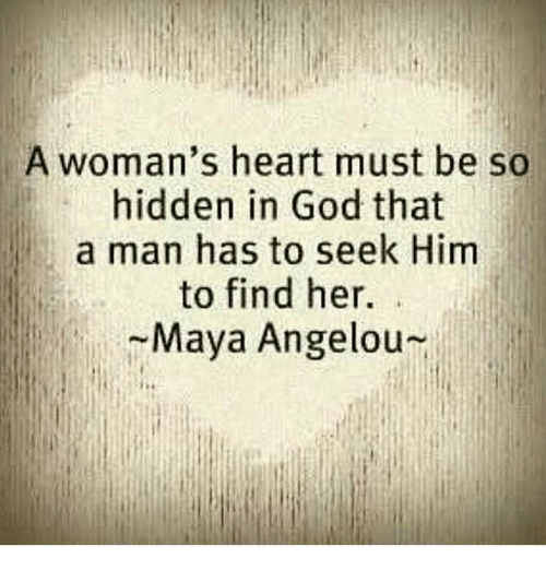 A Woman's Heart Must Be So Hid...