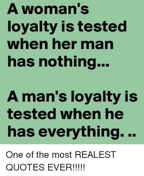 A Woman\'s Loyalty Is Tested When Her Man Has Nothing a Man\'s ...