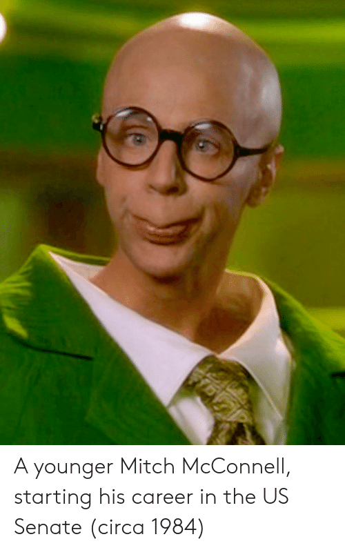 Mitch McConnell, Us Senate, and Senate: A younger Mitch McConnell, starting his career in the US Senate (circa 1984)