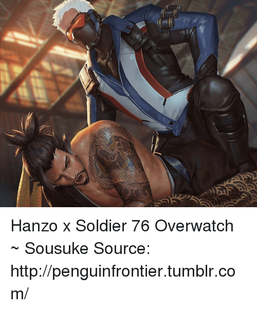 A17 Hanzo X Soldier 76 Overwatch ~ Sousuke Source