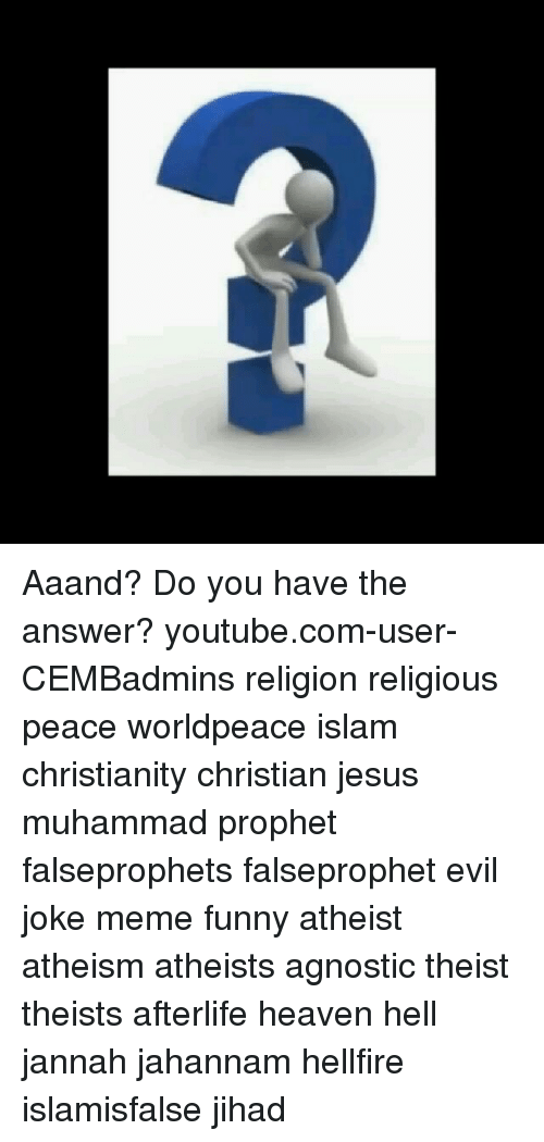 Aaand? Do You Have the Answer? Youtubecom-User-CEMBadmins