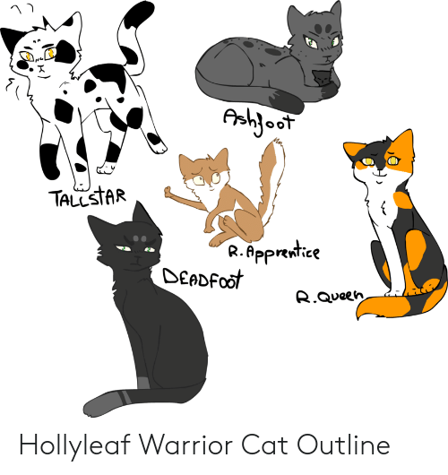 Aahjoot Tallstar Rapprentice Deadfoot Rqueen Hollyleaf Warrior Cat