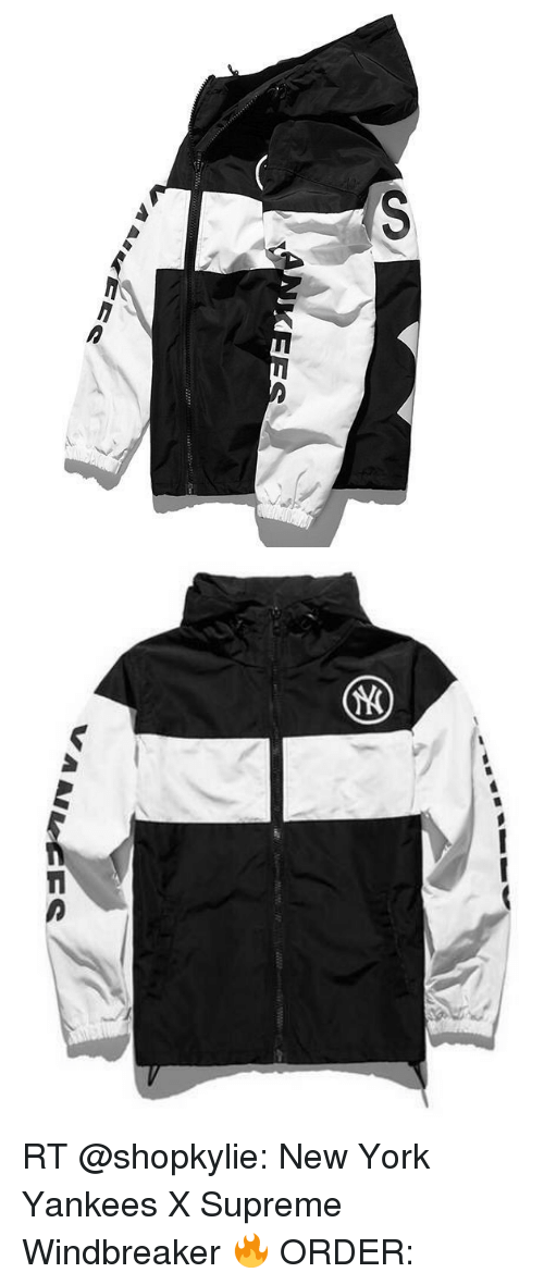 huge discount 94a16 e1bc1 AAlleCE a Allee RT New York Yankees X Supreme Windbreaker ...