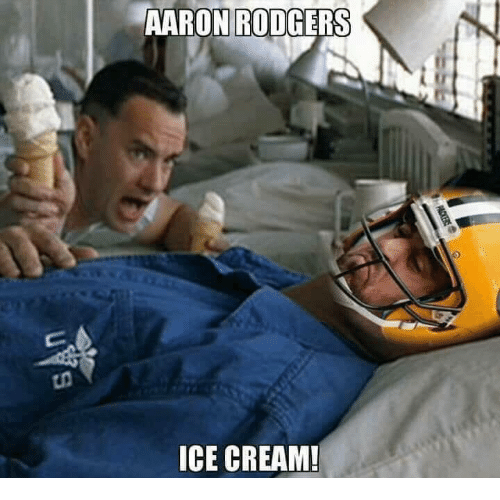 Aaron Rodgers Ice Cream Aaron Rodgers Meme On Me Me