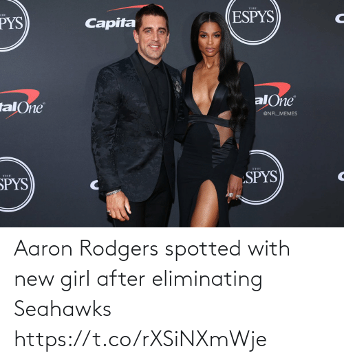 Aaron Rodgers, Football, and Nfl: Aaron Rodgers spotted with new girl after eliminating Seahawks https://t.co/rXSiNXmWje