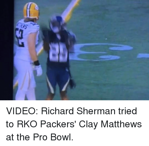 the best attitude 7c594 cee93 Ab VIDEO Richard Sherman Tried to RKO Packers' Clay Matthews ...