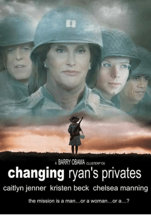 Caitlyn Jenner, Chelsea, and Funny: ABARRY OBAMA CLUSTERFCK  changing ryan's privates  caitlyn jenner kristen beck chelsea manning  the mission is a man...or a woman...or a...?