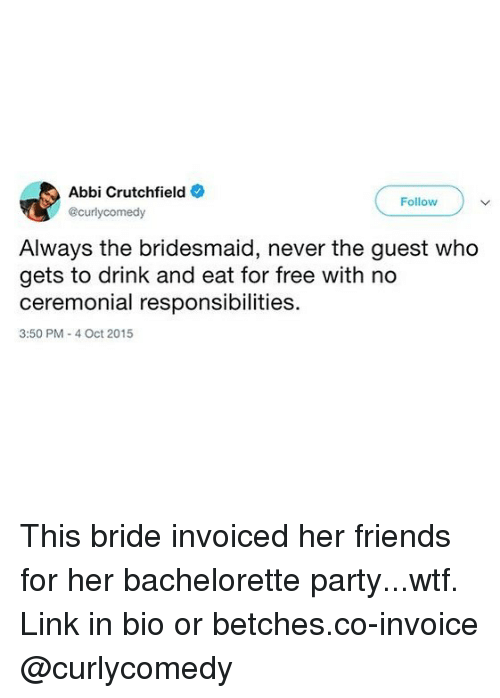 Abbi Crutchfield Follow Always the Bridesmaid Never the