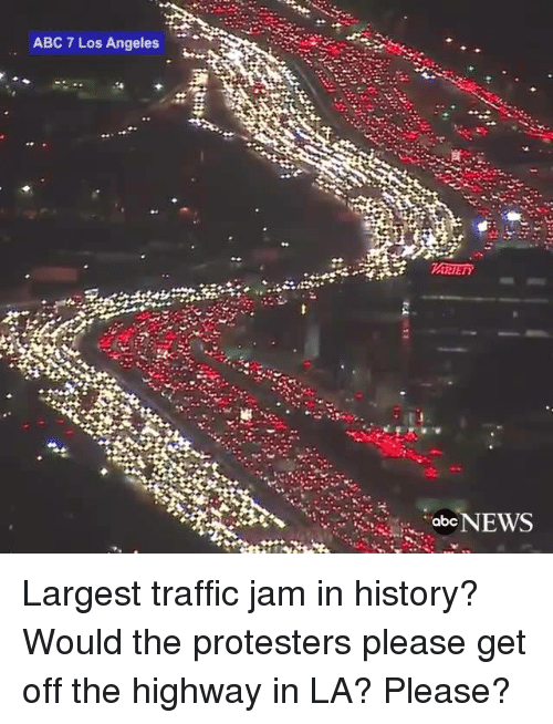 ABC 7 Los Angeles Abc NEWS Largest Traffic Jam in History
