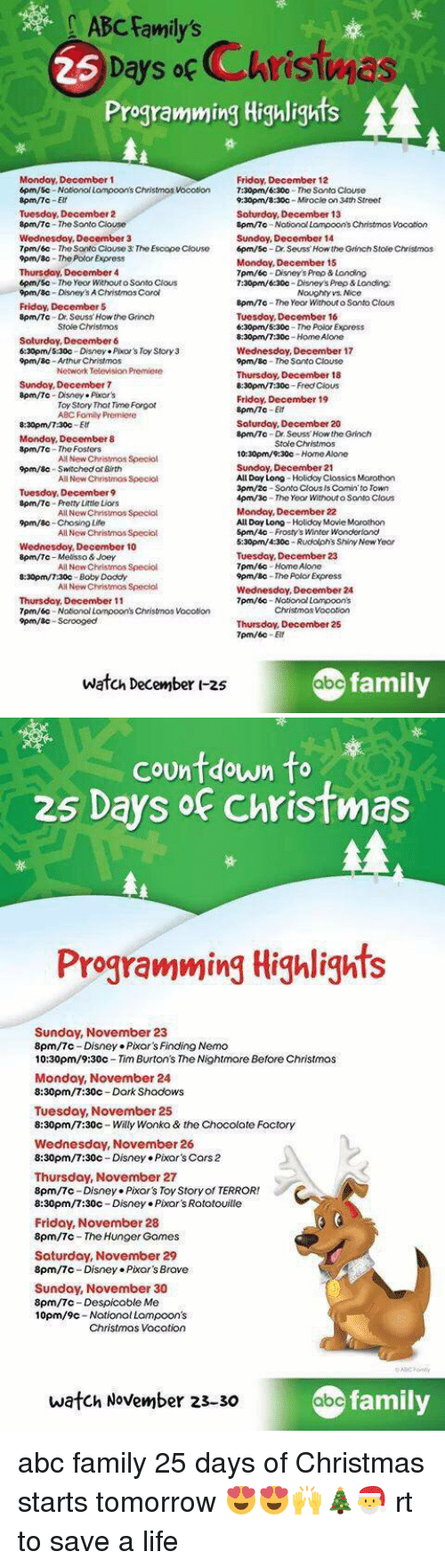 abc arthur and cars abc familys days occhristwas programming highlights monday december - Abc 25 Days Of Christmas