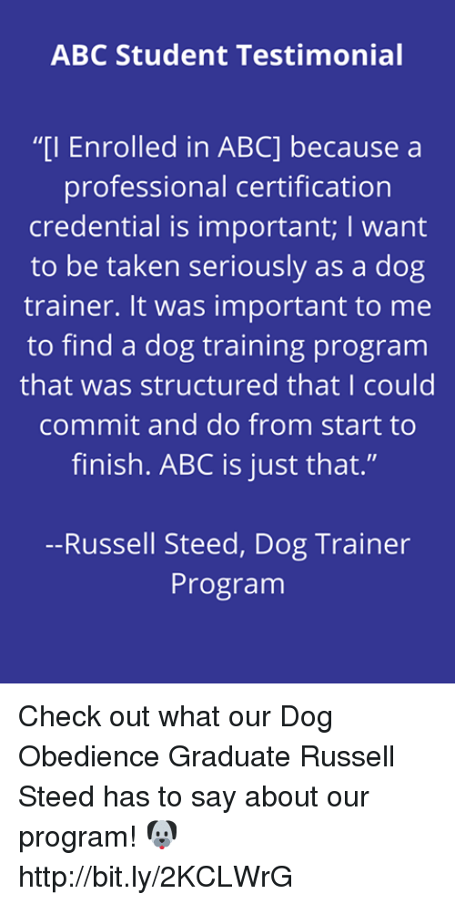 Abc Student Testimonial I Enrolled In Abc Becausea Professional