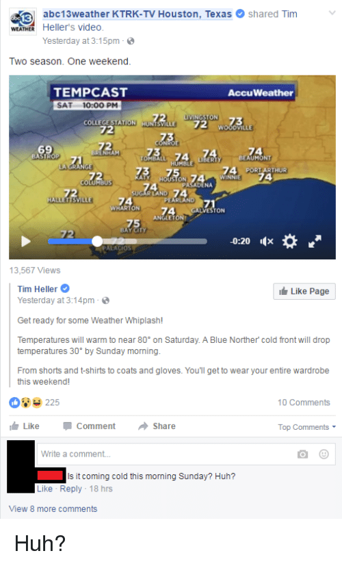 Abc13weather Ktrk Tv Houston Texas E Shared Tim V Weather Hellers