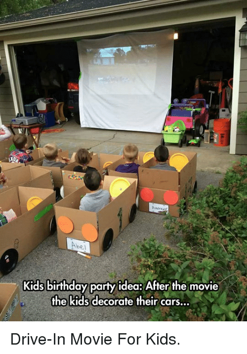 Abel Kids Birthday Party Idea After The Movie The Kids Decorate