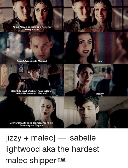 About Alec Is He More of a Flower or Cologne Man? Izzy Did ...