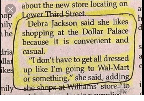About the New Store Locating on Lower Third Street M Ily Debra