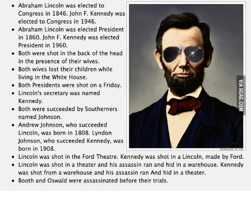 lincoln and kennedy similarities essay