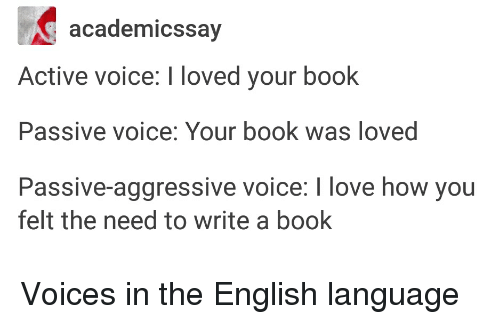 Books, Love, And Tumblr: Academics Say Active Voice: I Loved Your Book