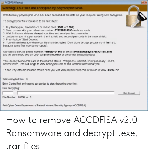 ACCDFISA Decrypt Warning! Your Files Are Encrypted by