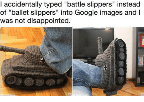 e8ee500a53f4 Accidentally Typed Battle Slippers Instead of Ballet Slippers Into ...