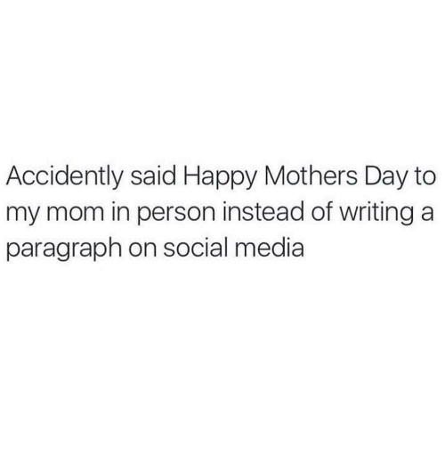 paragraph for mom