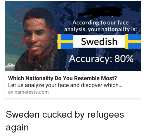 According to Our Face Analysis Your Nationality Is Swedish