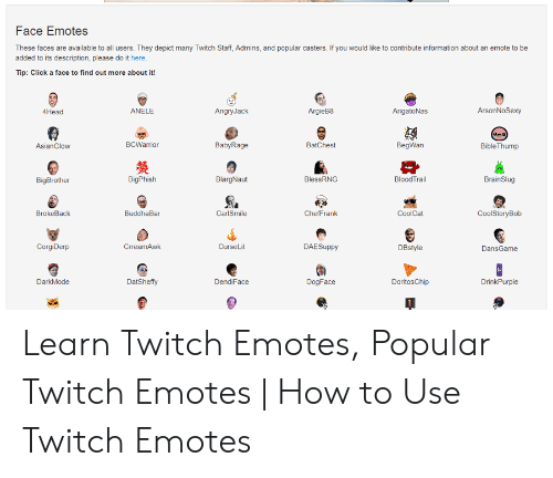 Ace Emotes These Faces Are Available to All Users They Depict Many